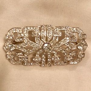 Faux Diamond Brooch